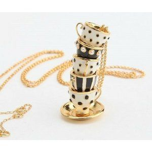 KATE SPADE Alice in Wonderland Teacup Necklace